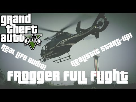 GTA 5 - Frogger (Eurocopter EC130) Realistic Start-Up & Full Flight (Real Time Audio)