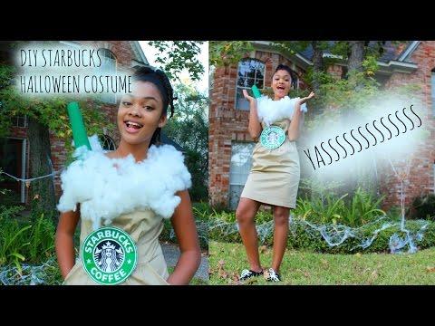 DIY halloween costume: STARBUCKS DRINK  | Nya Green |