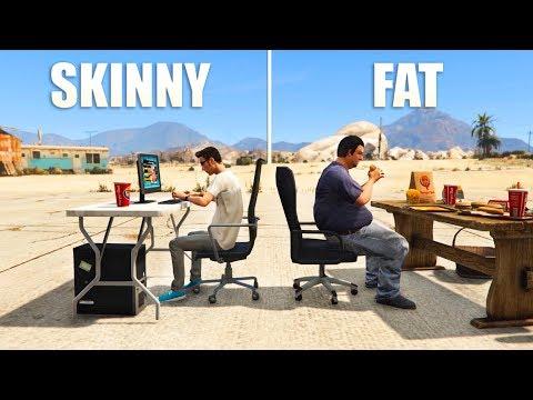 GTA V - Skinny vs Fat [AI]