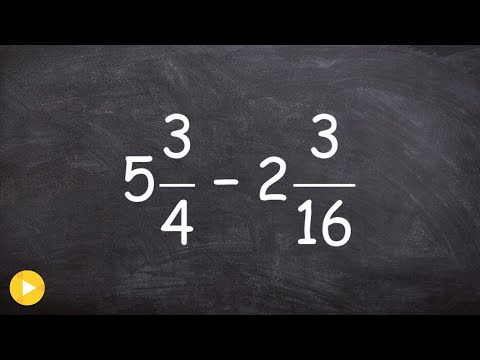 How to subtract mixed numbers by converting them to improper fractions