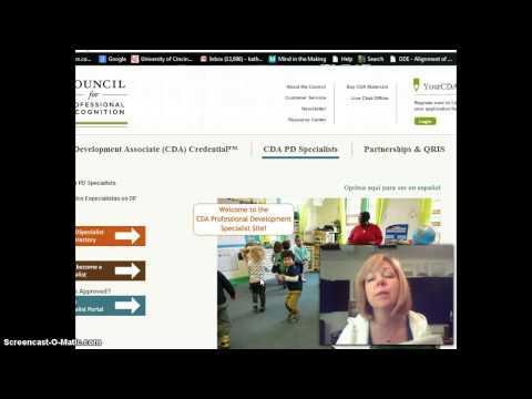 CDA Process Overview and Professional Portfolio