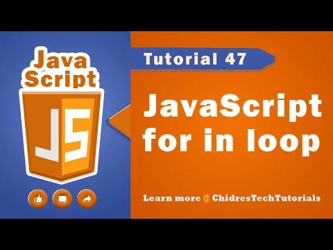 JavaScript tutorial 64 - for in loop | looping statements in javascript