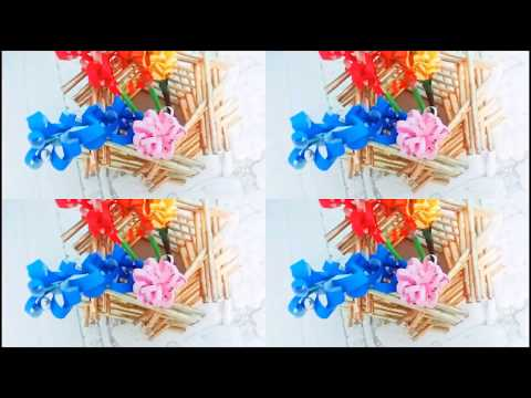 decorative vases :make decorative flower vase from newspaper in 2 minutes - cool and creative #126