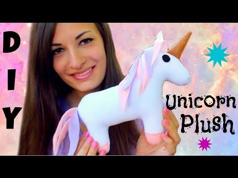 DIY Unicorn Plush - How To Make Stuffed Animal Tutorial - Comment faire un peluche de licorne