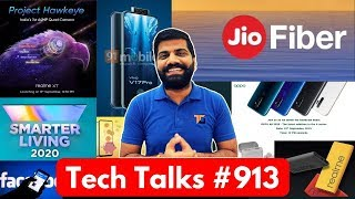 Tech Talks #913 - Realme XT Launch, Jio Fiber Plans, Oppo 80Watt, V17 Pro Dual Pop Up Selfie, ROG 2