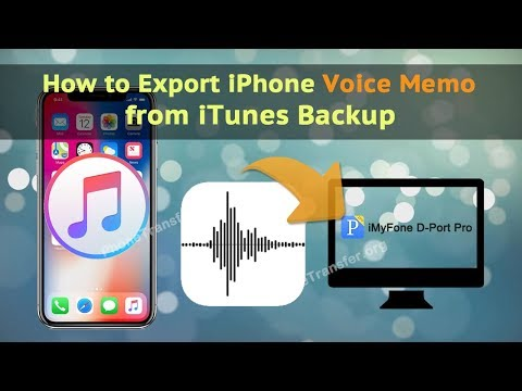 How to Export iPhone Voice Memo from iTunes Backup