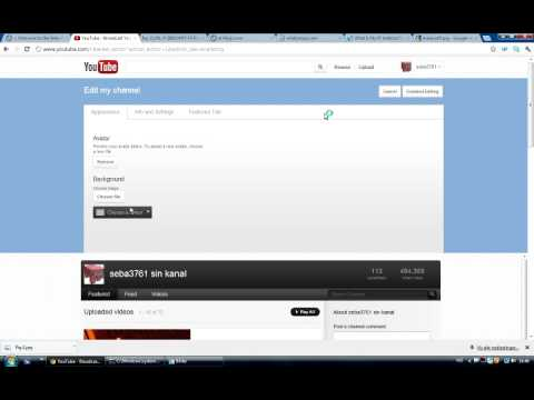 Youtube - how to change background colour on your youtube channel