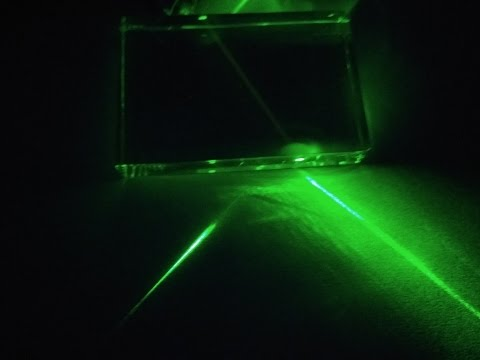Refraction and lateral deviation from Glass slab