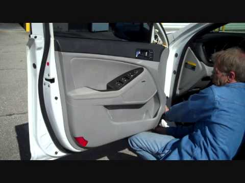 How to Kia Optima Front car stereo Door Speaker Removal 2011 - 2014 replace