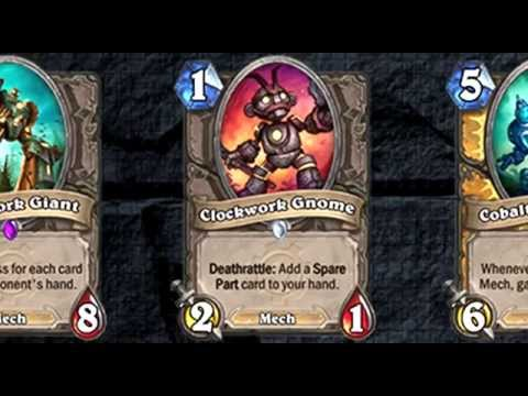 Hearthstone GvG Minions Cards Sounds pt 1