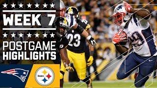 Patriots vs. Steelers | NFL Week 7 Game Highlights