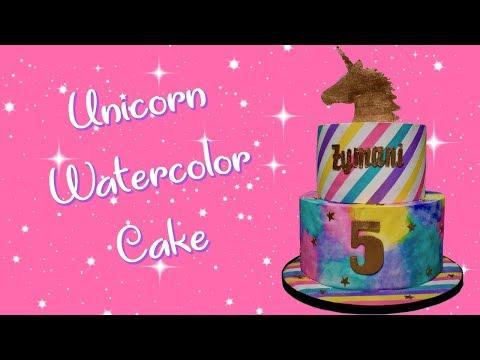 Unicorn Watercolor Cake!