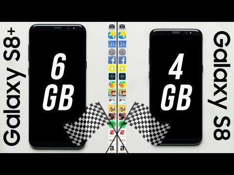 Galaxy S8+ (6GB RAM) vs. Galaxy S8 (4GB RAM) Speed Test