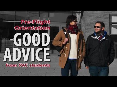Good Advice from SVC Student