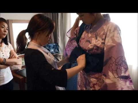 How to wear Yukata & Kimono for women / Tie obi belt