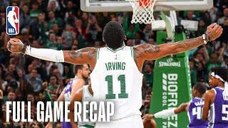 KINGS vs CELTICS | Kyrie Irving Records His 2nd Triple-Double Of His Career | March 14, 2019