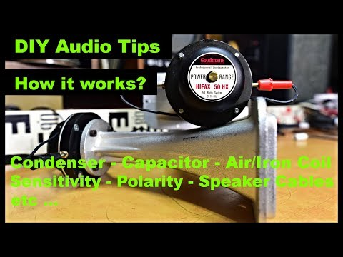 DIY Speaker Cables Turntable Belt How Works Condenser Capacitor Crossover Coil Sensitivity Polarity