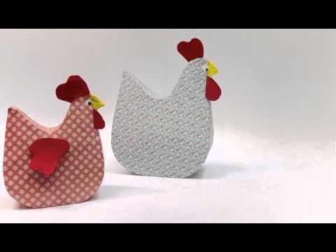 MollyMoo Papier Mache Hens