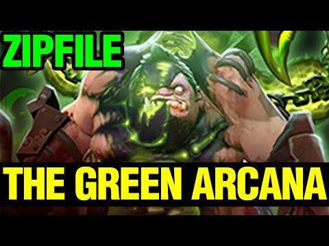 The Green Arcana - ZIPFILE WITH ARCANA STYLE 2 - PUDGE ARCANA- Dota 2