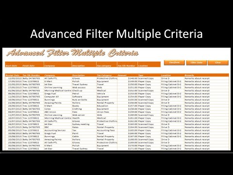 Excel Advanced Filter with Multiple Criteria