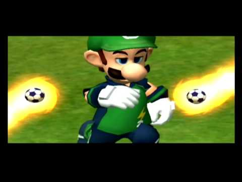 Super Mario Strikers Daisy VS Luigi