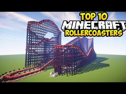 TOP 10 MINECRAFT ROLLER COASTERS IN MINECRAFT! (Minecraft Best Rollercoasters)