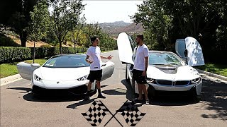 LAMBORGHINI VS BMW i8 RACE!! (INSANE) | FaZe Rug
