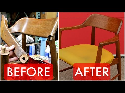 Refinish & Repair a Mid Century Walnut Chair