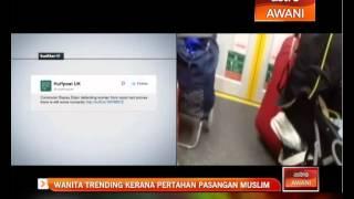 Wanita trending kerana pertahan pasangan Muslim