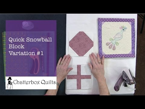 Quick Snowball Block Variation #1