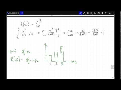 Statistic - expected value of a continuous random variable