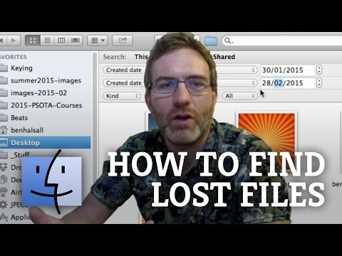 Mac OS X Tutorial: Finding Lost Files on Your Apple Mac (iMac, MacBook or MacBook Pro)