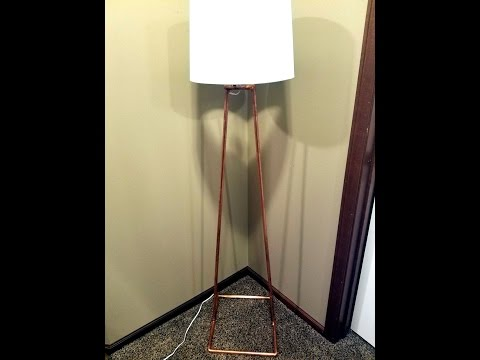 DIY - Modern Copper Floor Lamp