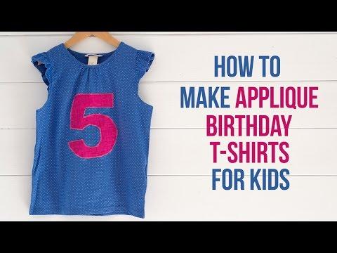 DIY applique birthday t-shirts - Easy sewing tutorial