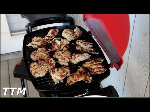 Chicken Thighs on the Weber Q Gas Grill