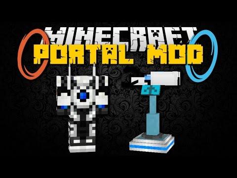 Minecraft: PORTAL GUN MOD (Portal Gun, Mob Auto Killer, Turrets & Launch Pads) Mod Showcase