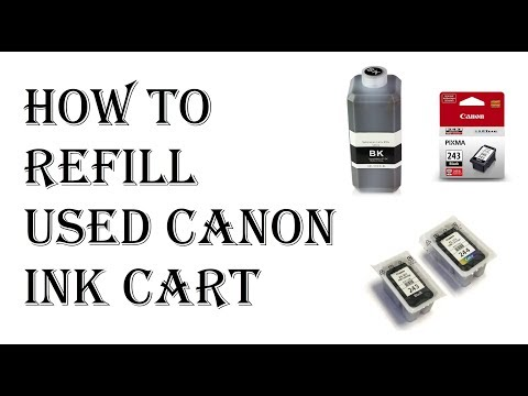 How To Refill Canon Ink Cartridge - Canon PG 245 545 Black Ink Cartridge Refill Kit 243 240 246 250