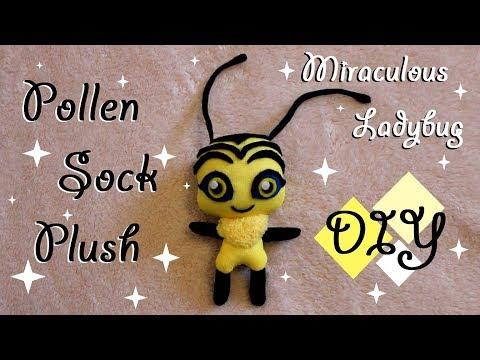 ❤ DIY Pollen Sock Plush! A Miraculous Ladybug Bee Kwami Plushie Tutorial! ❤
