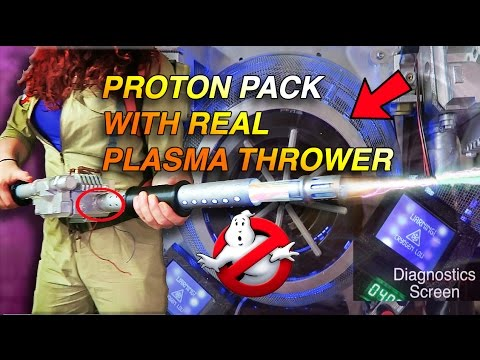 Ghostbusters Proton Pack, REAL PLASMA THROWER INSTALLED!!!!
