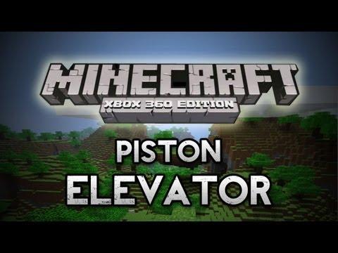 Minecraft: Xbox 360 - Piston Elevator [Redstone Wiring]