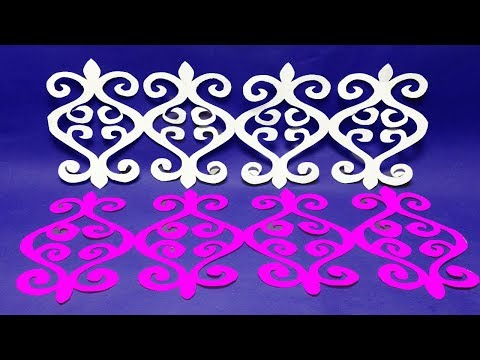 paper cutting Decor-DIY@How to make Easy paper cutting Border Design?Easy craft,