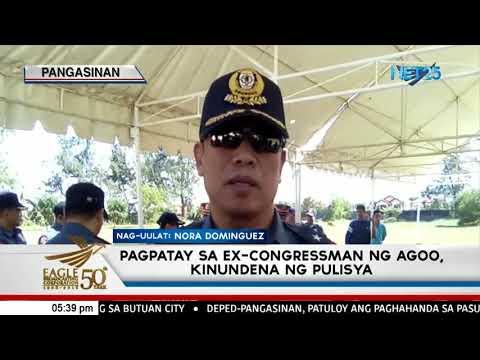 Pagpatay sa ex-Rep. ng Agoo, La Union  kinundena ng pulisya