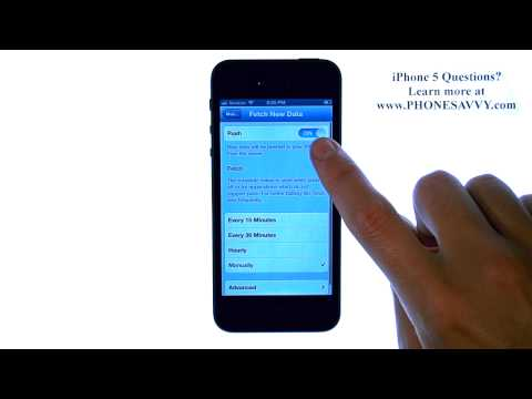 Apple iPhone 5 - iOS 6 - How do I Disable Push Emails and Change Fetch Duration