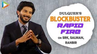 SRK's Acting Lessons Ya Salman's Fitness Lessons? | Ranbir Ya Ranveer? | Dulquer's EPIC Rapid Fire