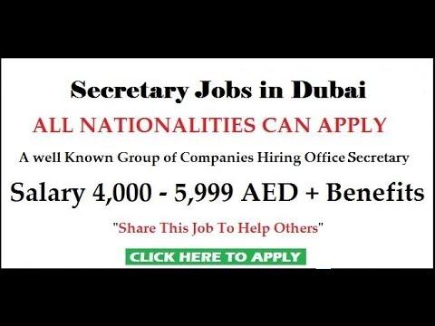 Secretary Jobs in Dubai | Male & Female requirement | Very Urgent Requirement | Latest Job 2018