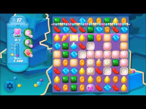 Candy Crush Soda Level 46 *Get the bear above the candy string*