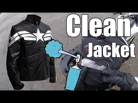 How To Clean Your Motorcycle Jacket - Oil Stains
