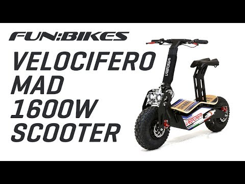 Product Overview: Velocifero MAD 48 Volt 1600W Electric Scooter
