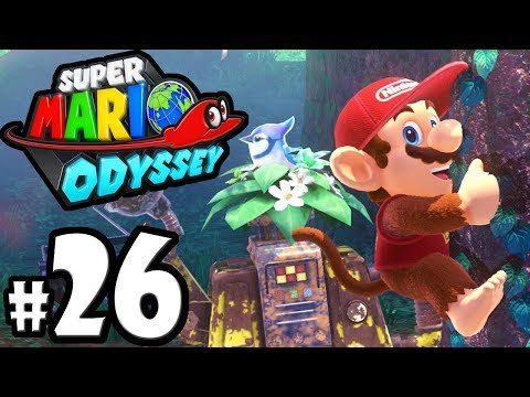 Super Mario Odyssey - Switch Gameplay Walkthrough PART 26: Wooded Kingdom Moons - Diddy Kong amiibo