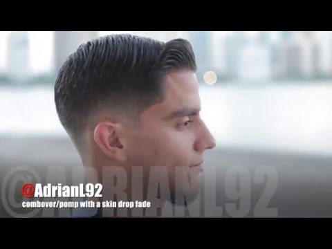 How to do a combover/pomp with a skin drop fade | by Adrian Lima